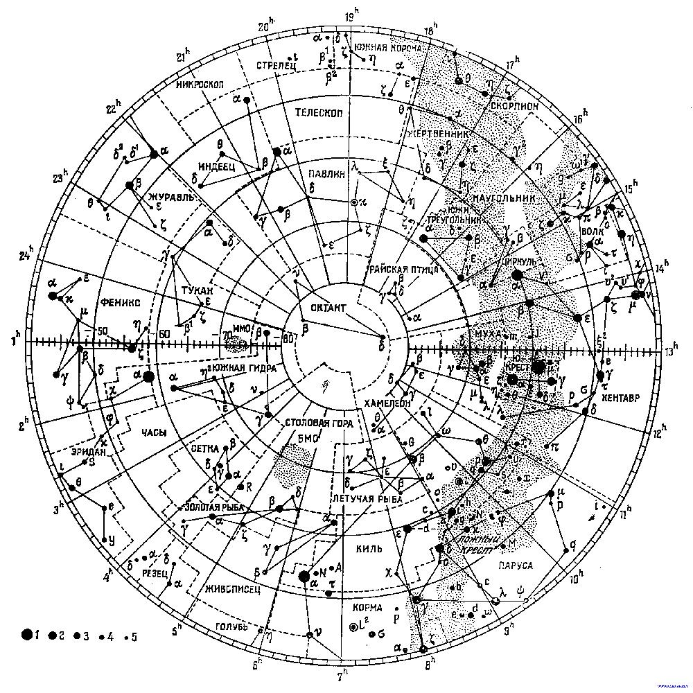 Карта звёздного неба — это карта